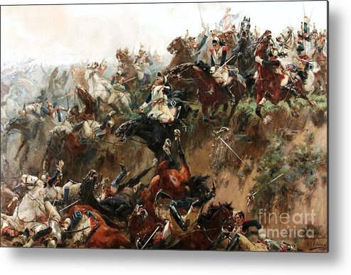 U.s.pd Metal Print featuring the painting El Barranco De Waterloo by Pg Reproductions