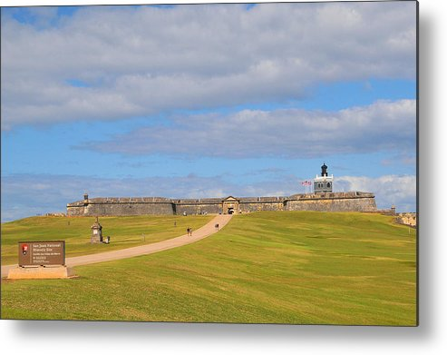 Old San Juan Metal Print featuring the photograph El Morro by Alan Lenk