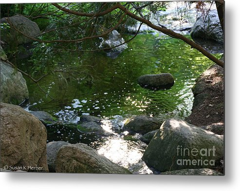 Flower Metal Print featuring the photograph Emerald Waters by Susan Herber