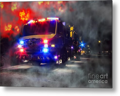 Fire Metal Print featuring the photograph Emergency by Olivier Le Queinec