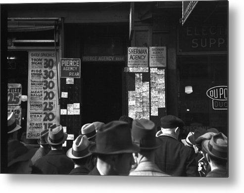 1937 Metal Print featuring the photograph Employment Agency, 1937 by Granger
