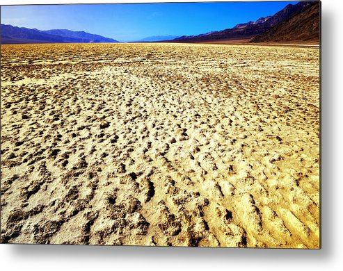 Image Of Bad Water Basin In Death Valley National Park In California Taken With Nikon D800 And A70-200mm Lens.. Metal Print featuring the photograph Endless by Bryan Shane