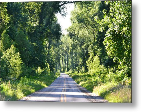 Road Metal Print featuring the photograph Endless Road by Kim Stafford