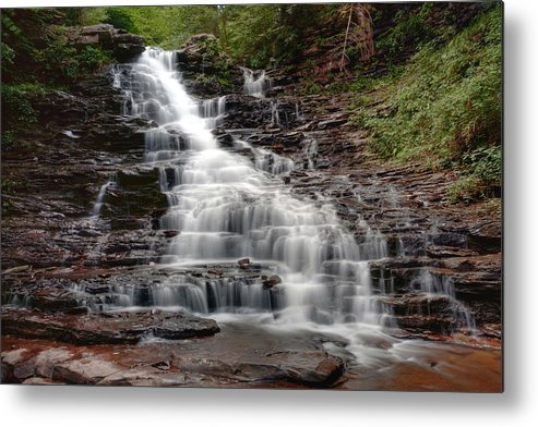 Falls Metal Print featuring the photograph F L Ricketts Running Down The Steps by Gene Walls