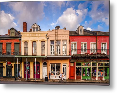 New Metal Print featuring the photograph Facades Of Houses In The French Quarter Vieux Carre - New Orleans Louisiana by Silvio Ligutti