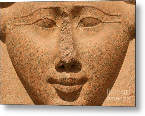 Hathor Metal Print featuring the photograph Face Of Hathor by Stephen & Donna O'Meara
