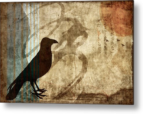 Raven Metal Print featuring the photograph Facing Future by Carol Leigh