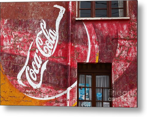America Metal Print featuring the photograph Faded Coca Cola Mural 1 by James Brunker