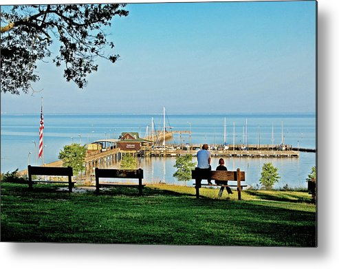 Fairhope Metal Print featuring the painting Fairhope Alabama Pier by Michael Thomas