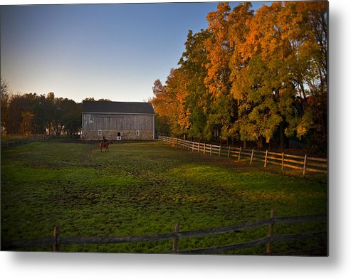 Barn Metal Print featuring the photograph Fall In Wisconsin by Jeff Klingler