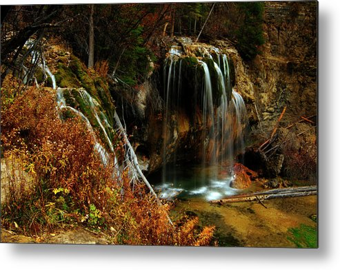 Colorado Metal Print featuring the photograph Falls At Hanging Lake by Jeremy Rhoades