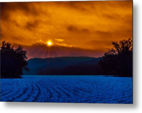 Agriculture Metal Print featuring the photograph Farmer's Field Sunrise by Brian Stevens