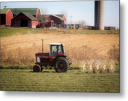 Farm Metal Print featuring the photograph Farmer's Work Is Never Done by Debbie Orlando
