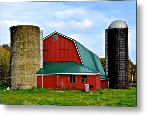 Farm Metal Print featuring the photograph Farming by Frozen in Time Fine Art Photography