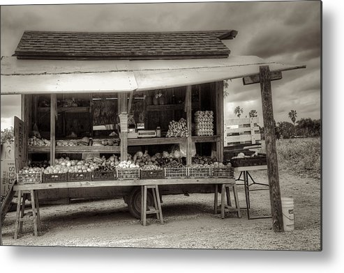 Farm Metal Print featuring the photograph Farmstand by William Wetmore