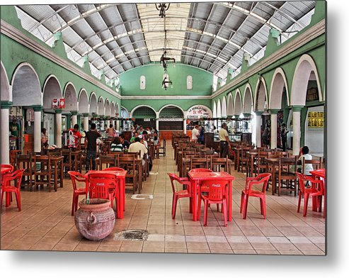 Fast Food Metal Print featuring the photograph Fast Food Hall In Valladolid by Paul Williams