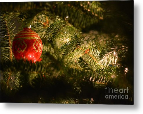 Christmas Metal Print featuring the photograph Festive 1 by Debra Beaupre
