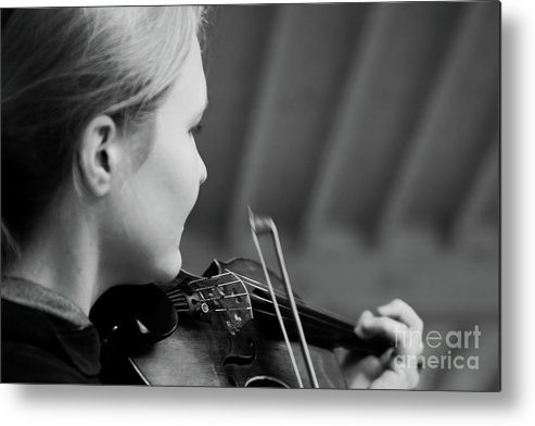 Fiddle Metal Print featuring the photograph Fiddler Under The Roof by Pit Hermann