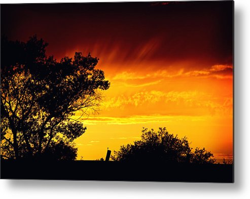 Sunset Metal Print featuring the photograph Fiery Sunset by Shawn McMillan