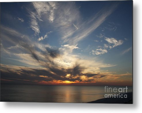 Sunset Metal Print featuring the photograph Fiery Sunset Skys by Christiane Schulze Art And Photography