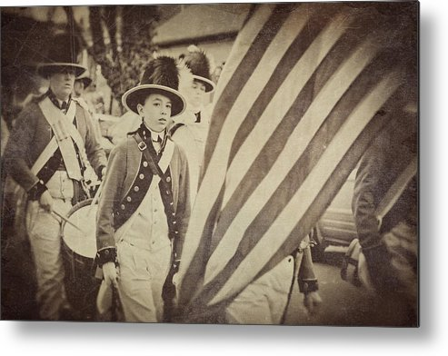 Fife Metal Print featuring the photograph Fife And Drum Corp by Lori Peterson