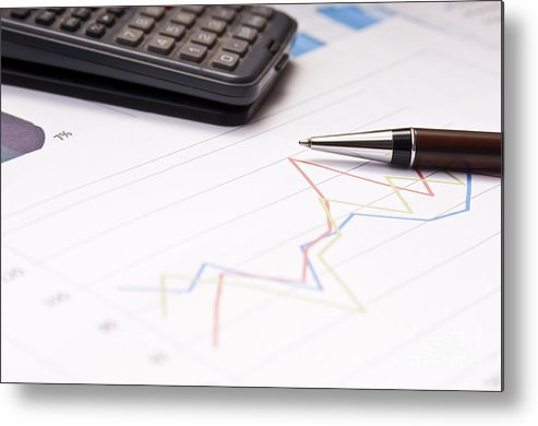 Accounting Metal Print featuring the photograph Finance Growth by Tim Hester