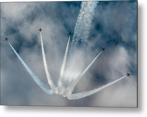 Airshow Metal Print featuring the photograph Fingers by Pawel Popowicz