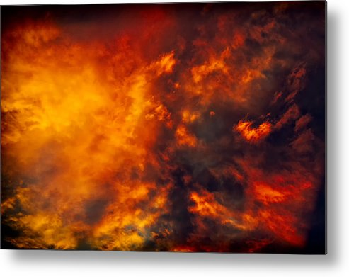 Fire Metal Print featuring the photograph Fire In The Skies by Paul W Sharpe Aka Wizard of Wonders