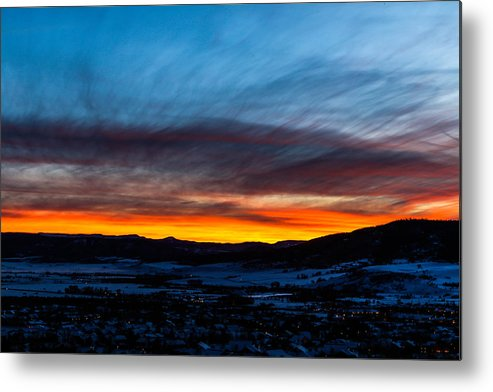 Sunset Metal Print featuring the photograph Fire In The Sky - Steamboat Sunset by Casey Barnett