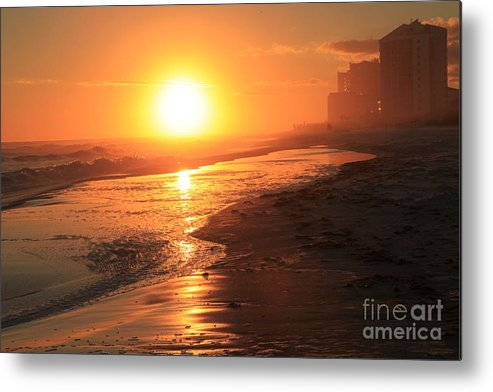 Gulf Islands National Seashore Metal Print featuring the photograph Fire Over Perdido Key by Adam Jewell
