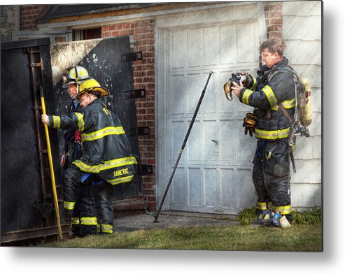 Savad Metal Print featuring the photograph Fireman - Take All Fires Seriously by Mike Savad