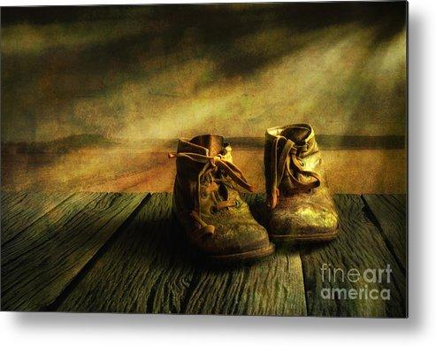 Art Metal Print featuring the photograph First Shoes by Veikko Suikkanen
