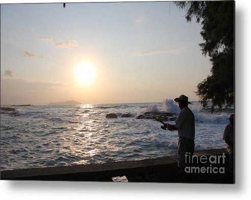Mediterranean Metal Print featuring the photograph Fisherman by Suzanne Kelly