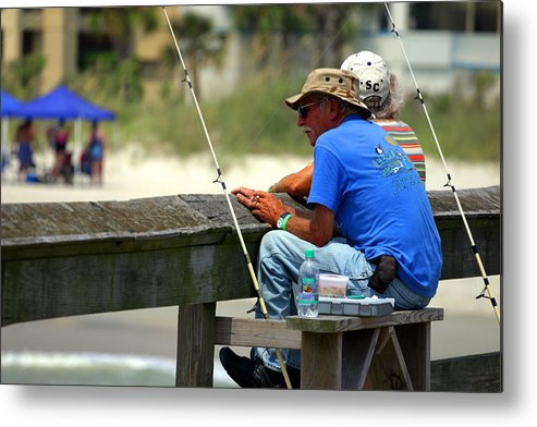Fisherman Metal Print featuring the photograph Fisherman by Joseph C Hinson Photography