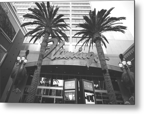 Nevada Metal Print featuring the digital art Flamingo At The Linq by Susan Stone