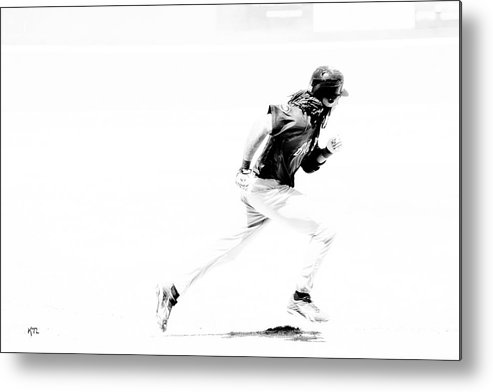Baseball Metal Print featuring the photograph Flash by Karol Livote