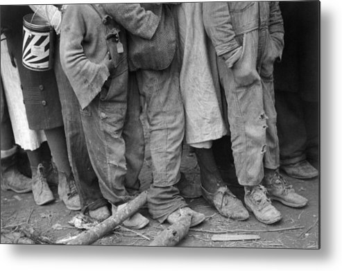 1937 Metal Print featuring the photograph Flood Refugees, 1937 by Granger