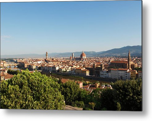 Campanile Metal Print featuring the photograph Florence, Tuscany, Italy. Overall View by Ken Welsh