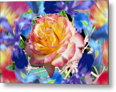 Flowers Metal Print featuring the digital art Flower Dance 2 by Lisa Yount