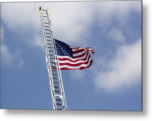 Fire Truck Metal Print featuring the digital art Flying High by Photographic Art by Russel Ray Photos