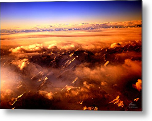 Fly Metal Print featuring the photograph Flying Over The Mountains by Julian Bareiro