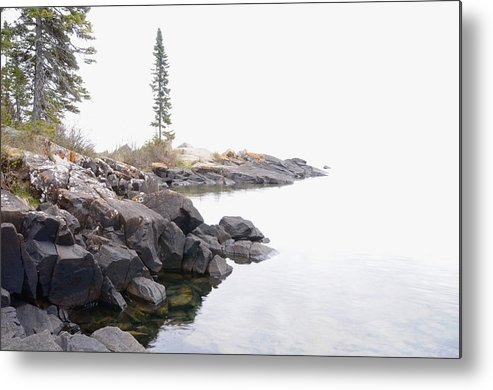 Lake Superior Scene Metal Print featuring the photograph Foggy Day On Lake Superior by Sandra Updyke