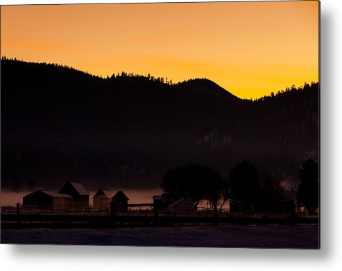 Seattle Metal Print featuring the photograph Foggy Farm by Paul Bartoszek