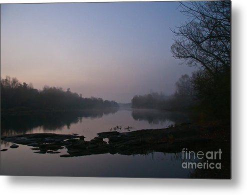 Landscapes Metal Print featuring the photograph Foggy Morning On The River by Cheryl Baxter