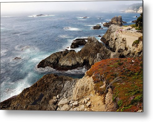Mountains Metal Print featuring the photograph Foggy Pacific Coast by Bryan Shane