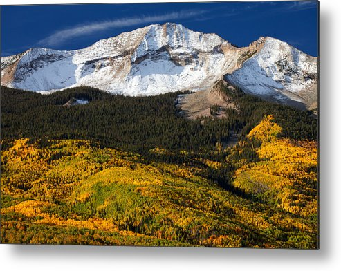 Colorado Landscapes Metal Print featuring the photograph Foothills Of Gold by Darren White