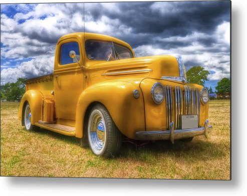 Ford Pickup Metal Print featuring the photograph Ford Jailbar Pickup Hdr by Phil 'motography' Clark