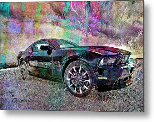 Ford Metal Print featuring the photograph Ford Mustang by Ericamaxine Price