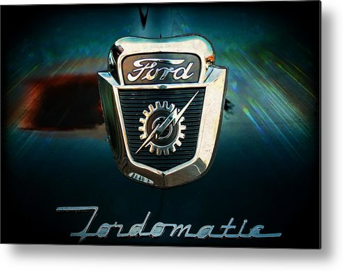 Ford Metal Print featuring the photograph Ford-o-matic by Sheri Bartoszek