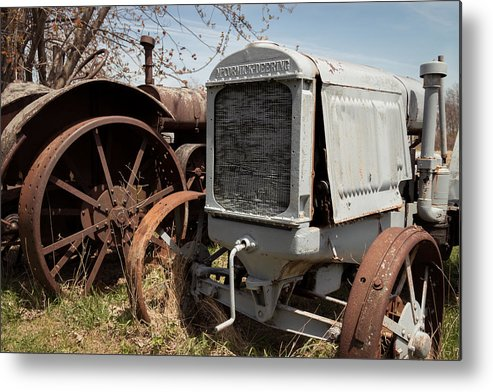 Tractors Metal Print featuring the photograph Forgotten Workers by Debbie Orlando